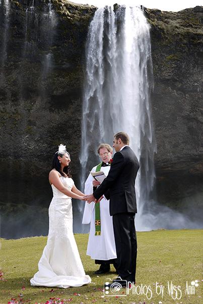 Seljalandsfoss Waterfall Wedding Photographer Iceland