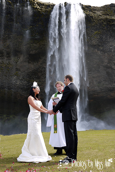 Seljalandsfoss Waterfall Wedding Photographer Iceland