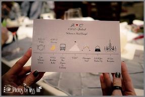 Wedding Timeline Card Iceland Wedding Planner